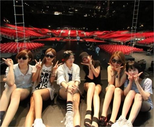 T-ARAが香港コンサートのリハーサル写真を公開♪