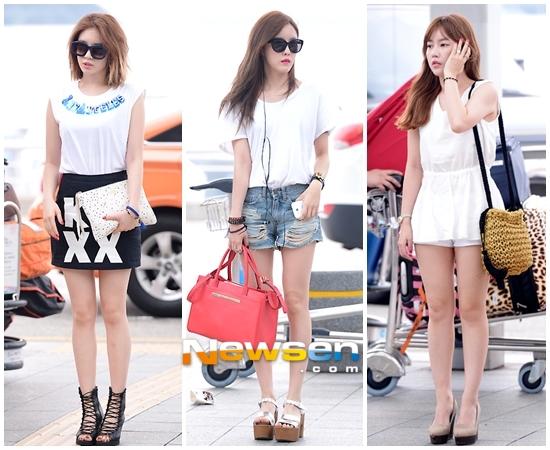 T-ARAが香港コンサートのために出国「6人6色♪夏の空港ファッション」