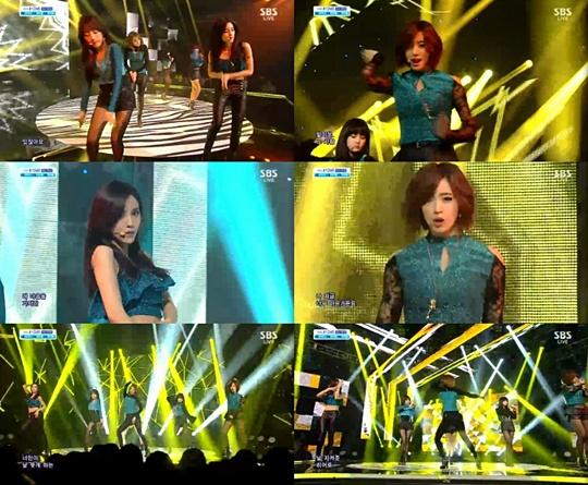 T-ARA11月3日『人気歌謡-NUMBER NINE』「セクシーキュートで雰囲気UP」