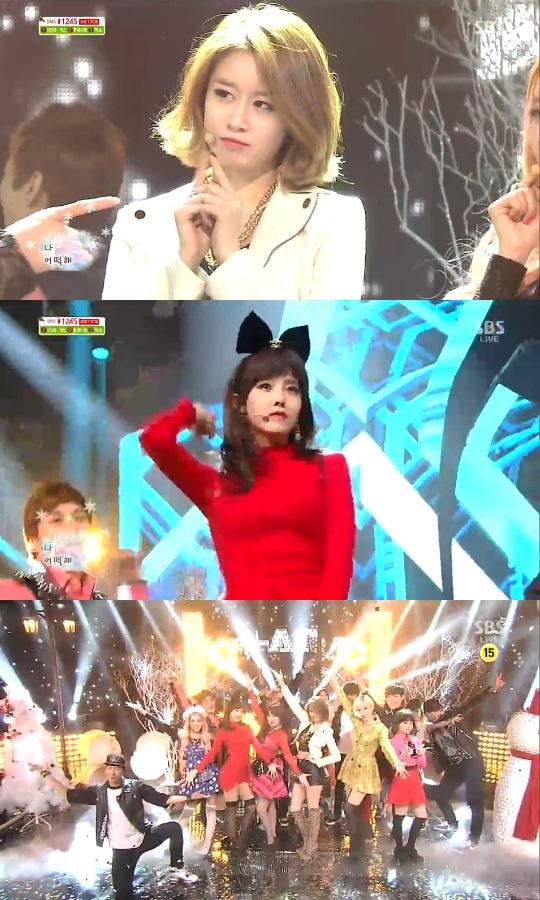 12月22日『人気歌謡』T-ARA「エキサイティングな弾丸ダンスで雰囲気UP」
