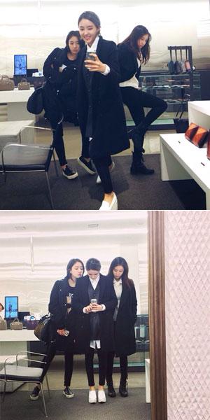 T-ARAのジヨン・ウンジョン・ヒョミン「ショッピングでセルカ三昧」